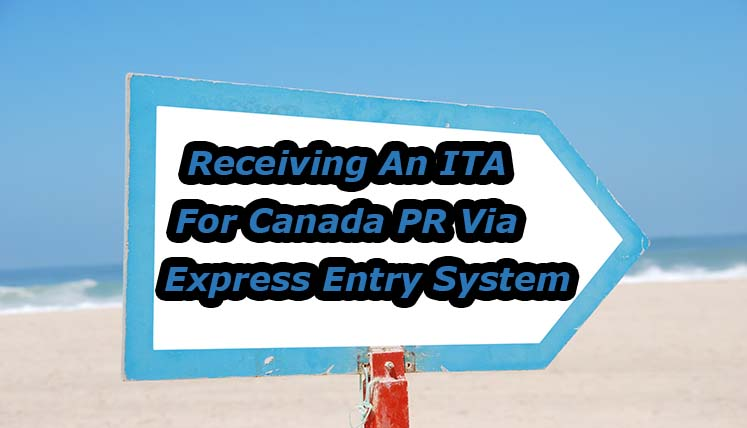 What is the Average time of receiving an ITA for Canada PR via Express Entry System?