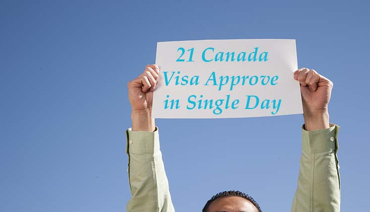 Outstanding Success- Visas Avenue obtained 21 Canadian PR Visa Approvals in a Single Day