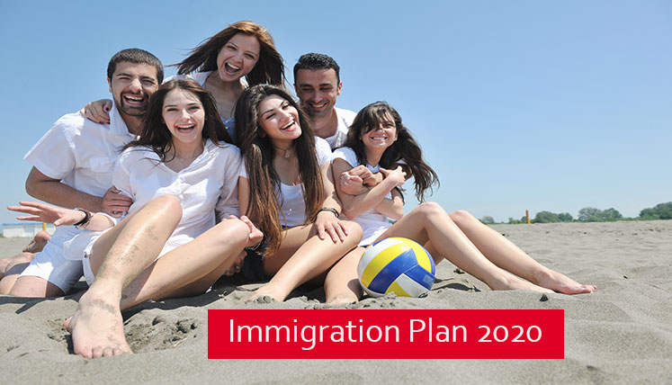 Canada to Welcome about One Million New Immigrants by 2020