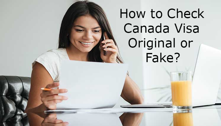 How to check Canada visa original or fake?
