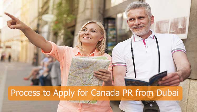 What is the process to apply for Canada PR from Dubai?
