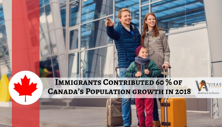 New Immigrants Account for over 60 percent Population growth in Canada in 2018- Apply PR now