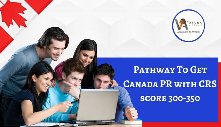 What is the Pathway to Get Canada PR with CRS Score 300-350?