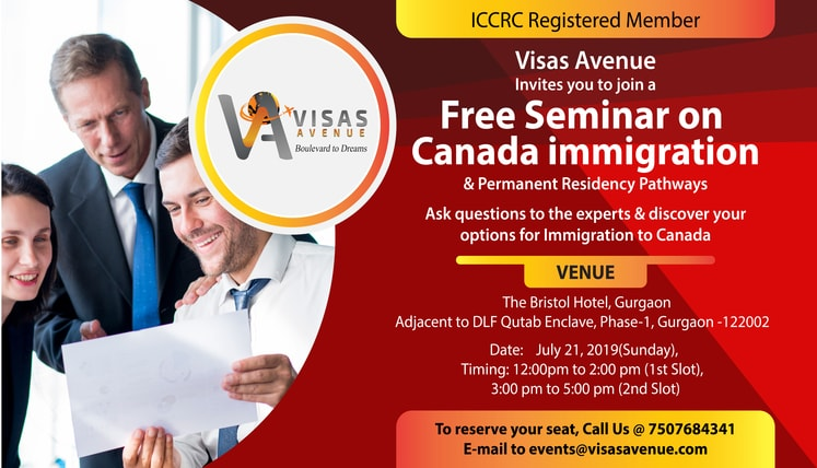 Visas Avenue is Hosting a Free Canada immigration Seminar at Gurgaon on 21st July 2019