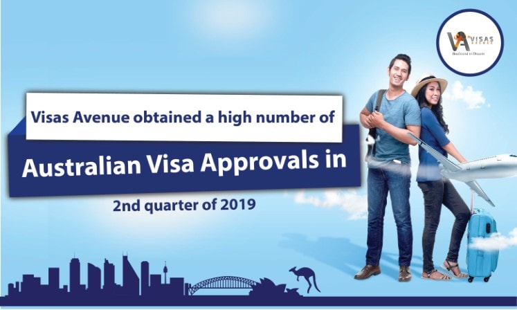Visas Avenue Obtained High Number of Australian Visa Approvals in 2nd quarter of 2019
