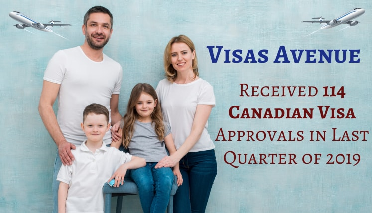 Visas Avenue Received 114 Canadian Visa Approvals in Last Quarter of 2019